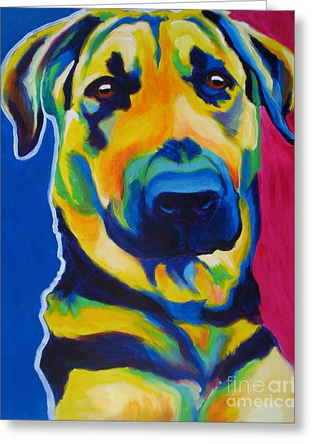 Alicia Vannoy Call Greeting Cards - German Shepherd - Duke Greeting Card by Alicia VanNoy Call