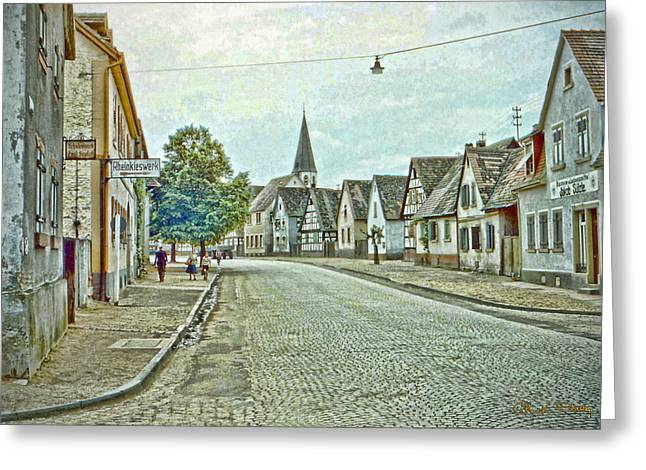 German Village Greeting Card by Chuck Staley