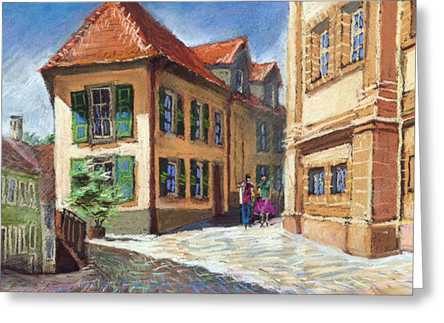 Europe Pastels Greeting Cards - Germany Baden-Baden 04 Greeting Card by Yuriy  Shevchuk