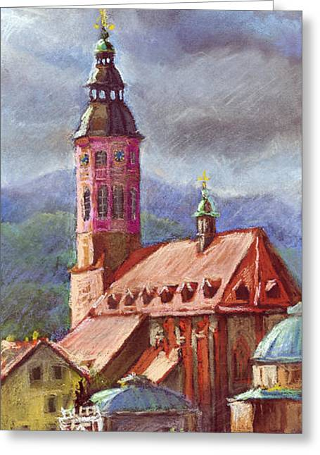 Architecture Pastels Greeting Cards - Germany Baden-Baden 05 Greeting Card by Yuriy  Shevchuk