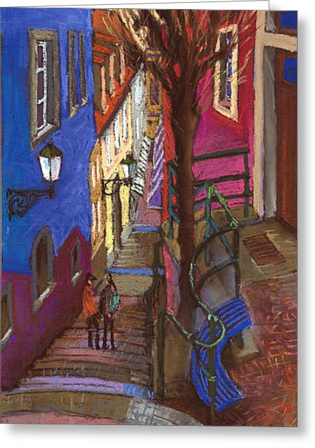 Architecture Pastels Greeting Cards - Germany Baden-Baden 08 Greeting Card by Yuriy  Shevchuk