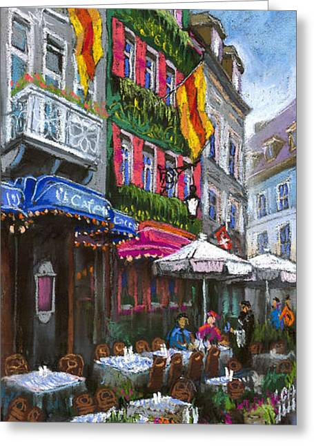 Architecture Pastels Greeting Cards - Germany Baden-Baden 10 Greeting Card by Yuriy  Shevchuk
