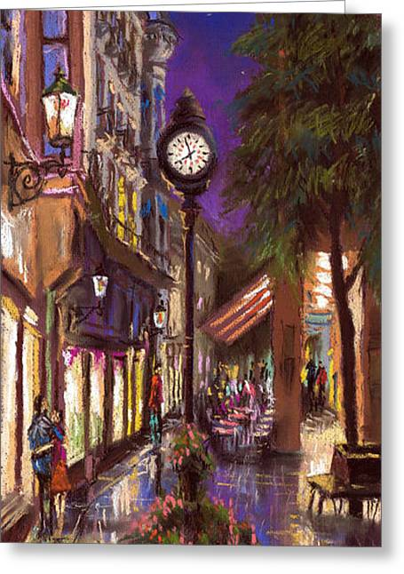 Architecture Pastels Greeting Cards - Germany Baden-Baden 11 Greeting Card by Yuriy  Shevchuk