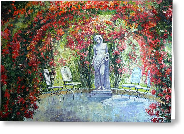 Europe Paintings Greeting Cards - Germany Baden-Baden Rosengarten 02 Greeting Card by Yuriy  Shevchuk