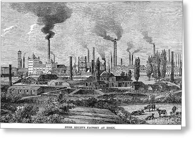Essen Greeting Cards - Germany: Krupp Steelworks Greeting Card by Granger