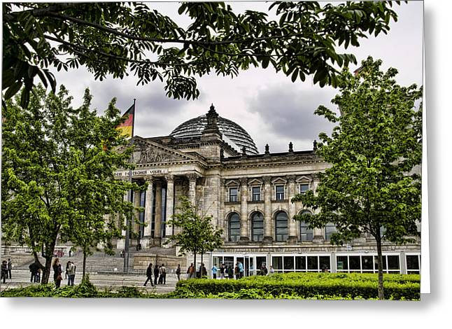 Berlin Germany Greeting Cards - Germanys Parliment Greeting Card by Jon Berghoff