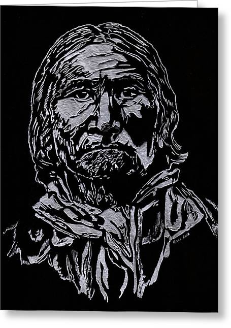 Geronimo Greeting Card by Jim Ross