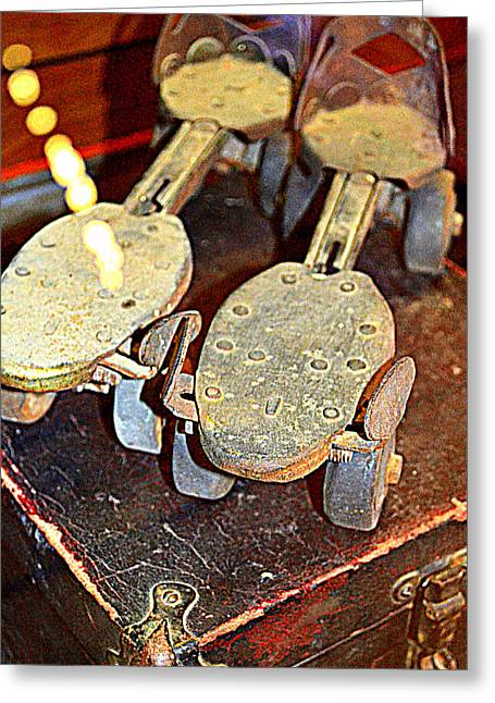 Antique Skates Greeting Cards - Get Your Skates On Greeting Card by Diane montana Jansson