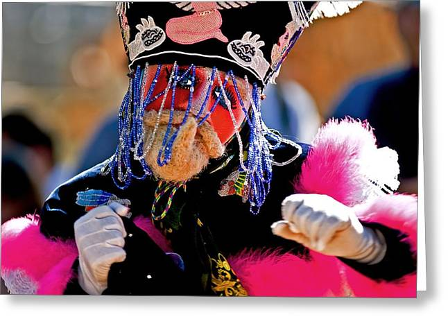 Beaded Gloves Greeting Cards - Gettin down Greeting Card by Bill Jonscher
