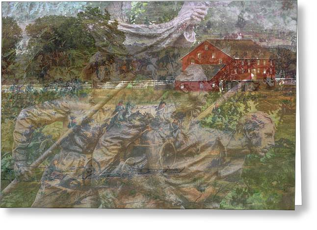 The North Digital Art Greeting Cards - Gettysburg Back in Time Greeting Card by Randy Steele