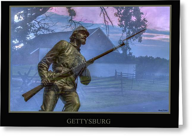 Confederate Monument Digital Art Greeting Cards - Gettysburg Battlefield Poster Greeting Card by Randy Steele