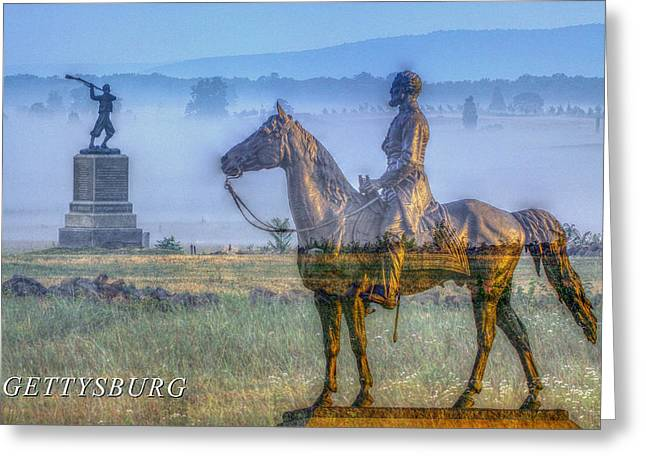 Stone Sentinel Greeting Cards - Gettysburg Battlefield Greeting Card by Randy Steele