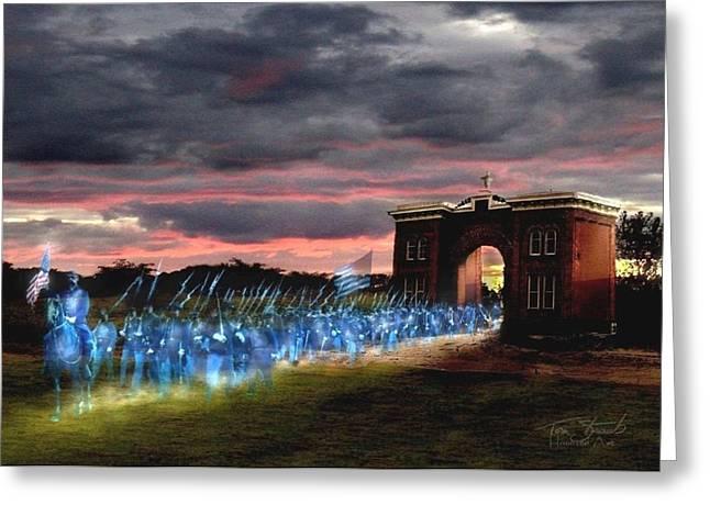 Union Digital Art Greeting Cards - Gettysburg Evergreen Greeting Card by Tom Straub