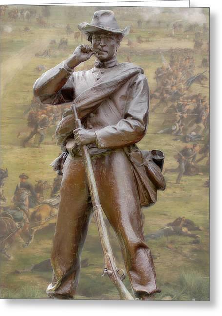 Confederate Monument Digital Art Greeting Cards - Gettysburg Greeting Card by Randy Steele