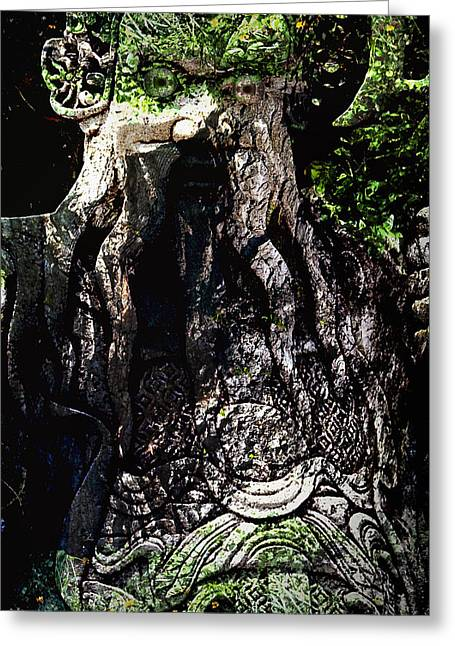 Pixy Greeting Cards - Ghillie Dhu Greeting Card by Nafets Nuarb
