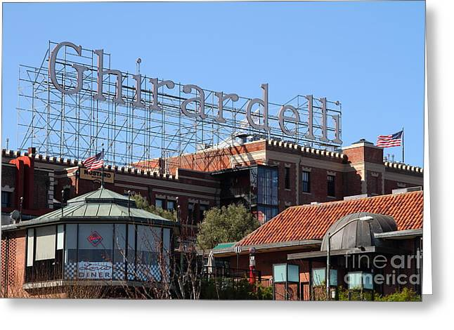 Ghirardelli Chocolate Greeting Cards - Ghirardelli Chocolate Factory San Francisco California . 7D13978 Greeting Card by Wingsdomain Art and Photography