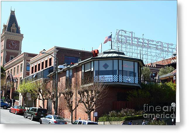 Ghirardelli Chocolate Greeting Cards - Ghirardelli Chocolate Factory San Francisco California . 7D14093 Greeting Card by Wingsdomain Art and Photography