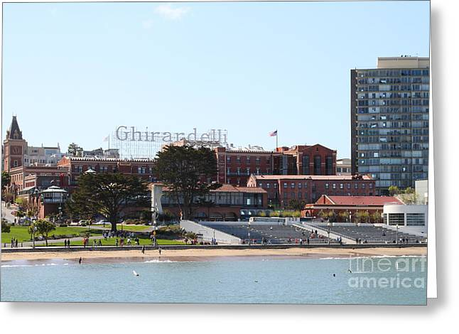 Ghirardelli Chocolate Greeting Cards - Ghirardelli Chocolate Factory San Francisco California . 7D14127 Greeting Card by Wingsdomain Art and Photography