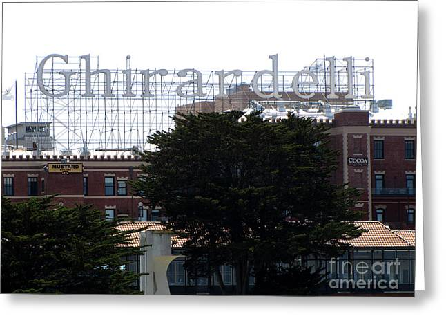 Ghirardelli Chocolate Factory Greeting Cards - Ghirardelli Greeting Card by Serena Ballard