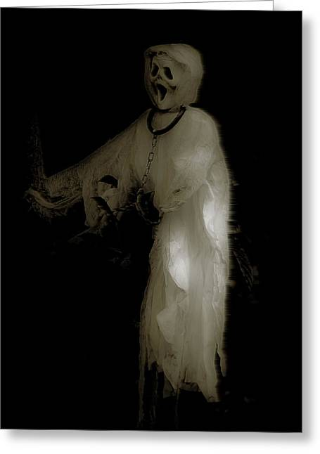 Noose Greeting Cards - Ghost and Chains Greeting Card by DigiArt Diaries by Vicky B Fuller