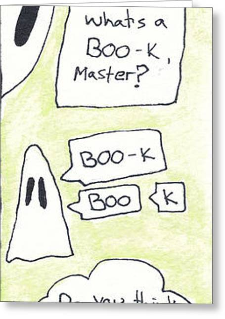 Ink Drawing Greeting Cards - Ghost Bookmark Greeting Card by Michael Mooney