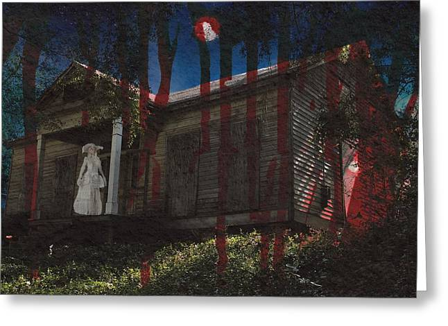 Haunted House Greeting Card Greeting Cards - Ghost Bride Greeting Card by Betty Northcutt