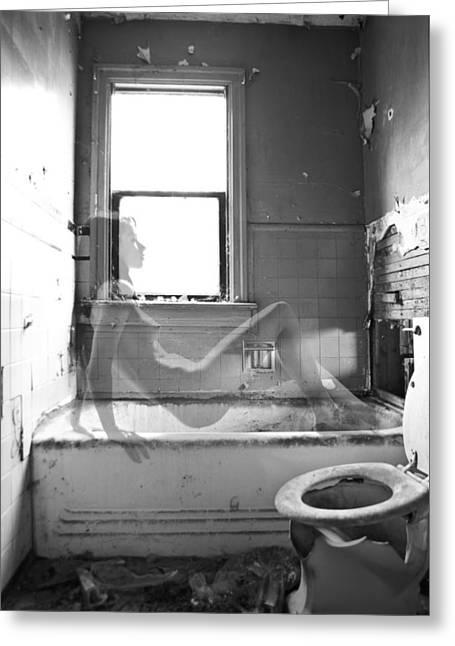 Bathtub Greeting Cards - Ghost Greeting Card by Ian MacDonald