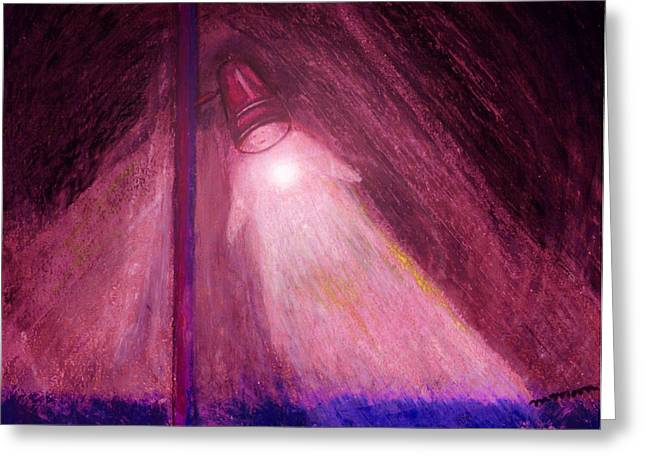 Night Lamp Pastels Greeting Cards - Ghost Image Greeting Card by Melvin Moon