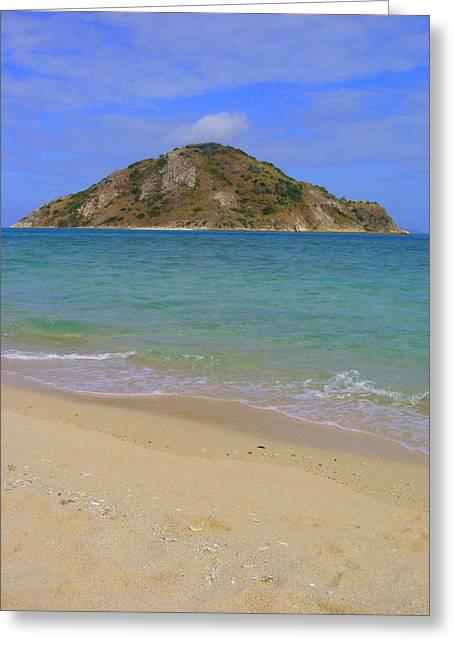 Ghost Island Greeting Card by Linda Larson