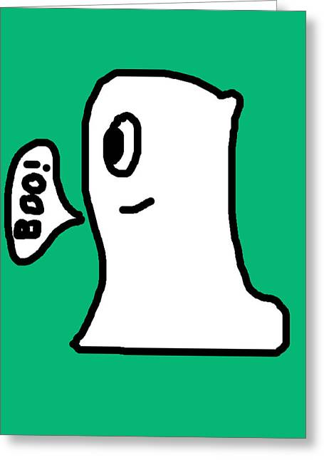 Character Portraits Greeting Cards - Ghost Greeting Card by Jera Sky