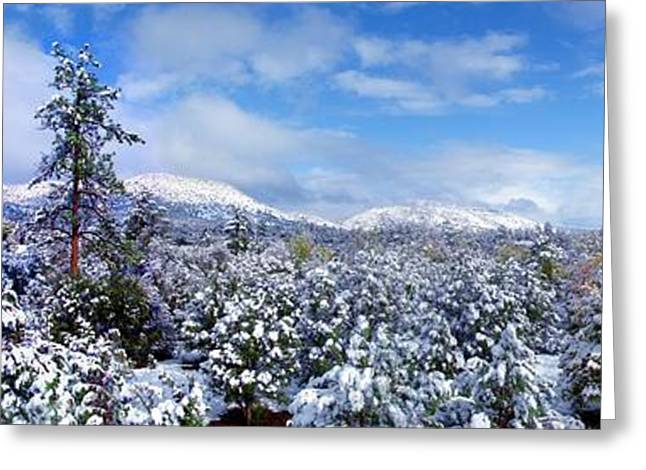 Prescott Greeting Cards - Ghost Mountain  Winters Cotton Greeting Card by Ron Murphy