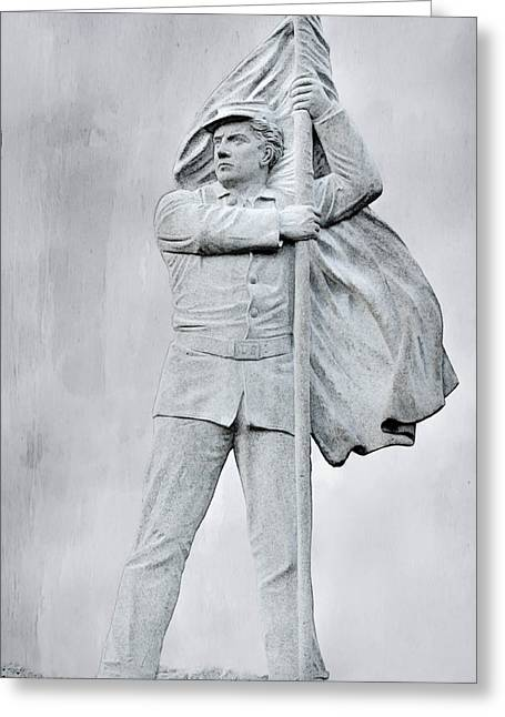 Confederate Monument Digital Art Greeting Cards - Ghost of Battles Past Greeting Card by Randy Steele