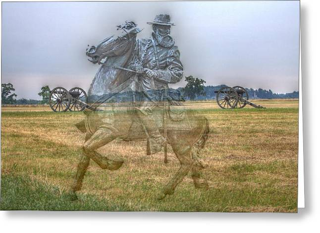 Confederate Digital Art Greeting Cards - Ghost Of Gettysburg Greeting Card by Randy Steele