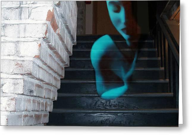 Ghost of Pain - Self Portrait Greeting Card by Jaeda DeWalt
