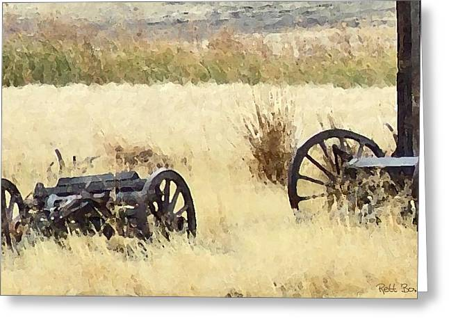 Conestoga Greeting Cards - Ghost Of The Oregon Trail Greeting Card by Everett Bowers