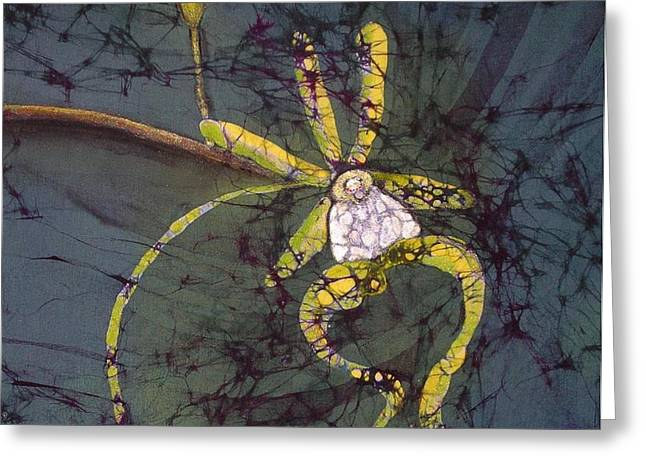 Southwest Tapestries - Textiles Greeting Cards - Ghost Orchid Greeting Card by Kay Shaffer