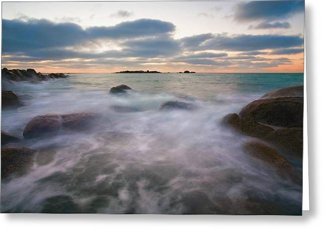 Fleurieu Peninsula Greeting Cards - Ghost Tides Greeting Card by Mike  Dawson