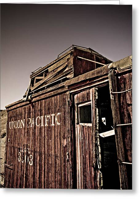 Caboose Greeting Cards - Ghost town Caboose Greeting Card by Patrick  Flynn