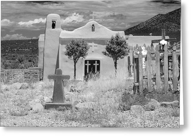 Nikon D80 Greeting Cards - Ghost Town Church Greeting Card by Sonja Quintero
