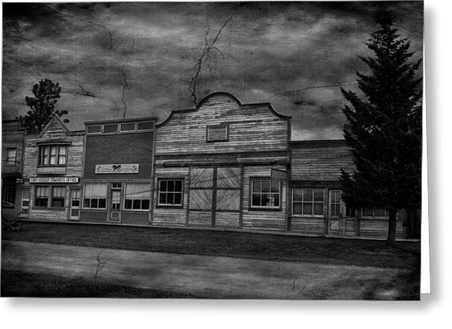 Edmonton Photographer Greeting Cards - Ghost Town Drive Greeting Card by Jerry Cordeiro