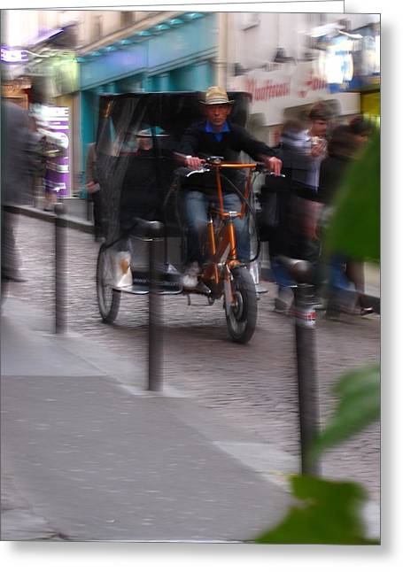 European Bicycle Shop Greeting Cards - Ghost Town Greeting Card by Isabel Carlisle