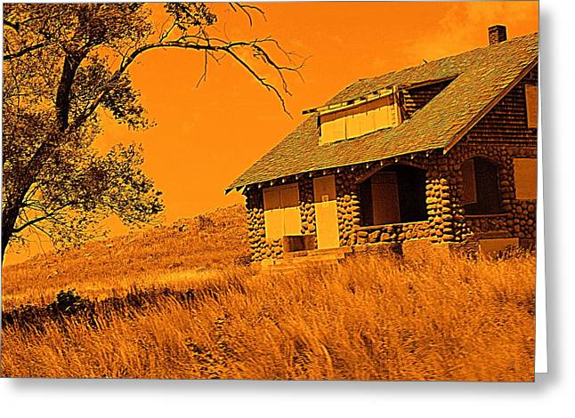 Mickey Harkins Greeting Cards - Ghost Town Greeting Card by Mickey Harkins