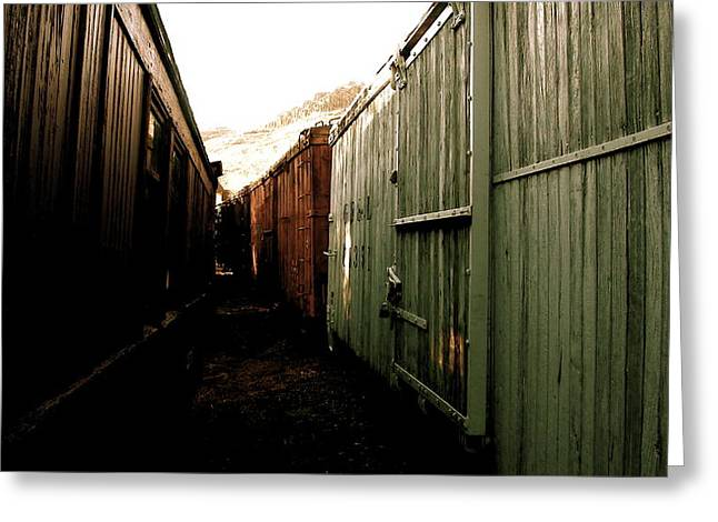 Travis Burns Greeting Cards - Ghost Train Yard Greeting Card by Travis Burns