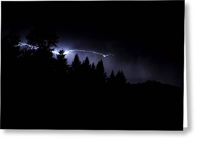 Lightning Greeting Cards - Ghostly Lightning Greeting Card by Don Mann
