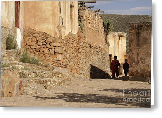 Best Sellers -  - Mining Photos Greeting Cards - GHOSTLY PAIR Cerro San Pedro Mexico Greeting Card by John  Mitchell