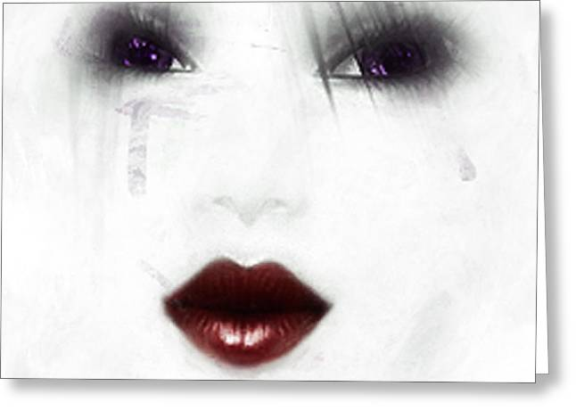 Ghostly Tears Greeting Card by Rosy Hall