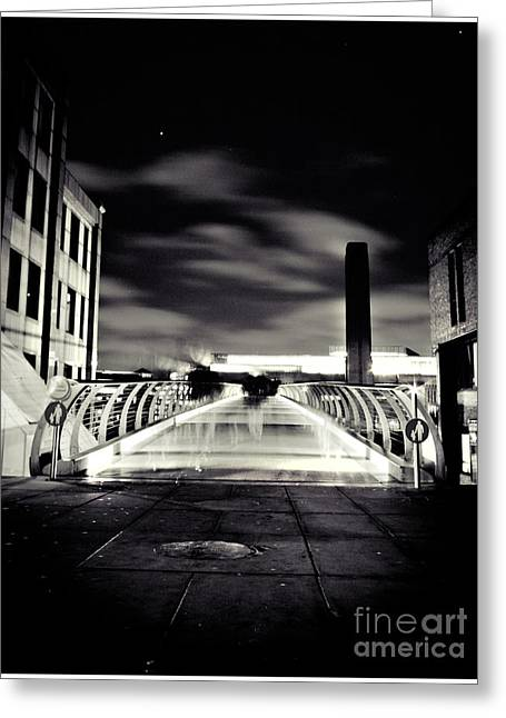 Ghosts In The City Greeting Card by Lenny Carter