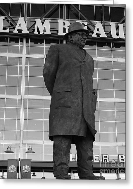 Green Bay Greeting Cards - Ghosts of Lambeau Greeting Card by Tommy Anderson