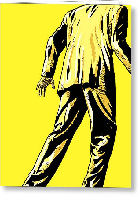 Suits Greeting Cards - Giallo Greeting Card by Giuseppe Cristiano