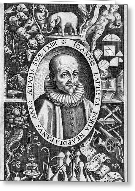 1500s Greeting Cards - Giambattista Della Porta Italian Polymath Greeting Card by Middle Temple Library